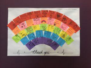 Brenbeal Children's rainbow art